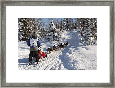Rebekah Ruzicka On The In-bound Trail Framed Print