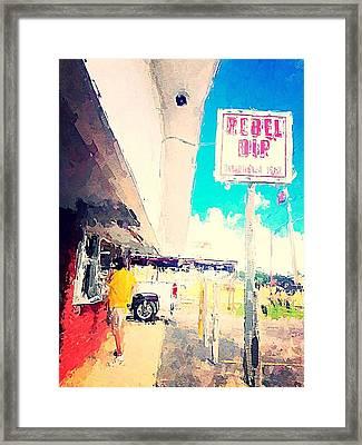 Rebel Dip Framed Print by M  Stuart