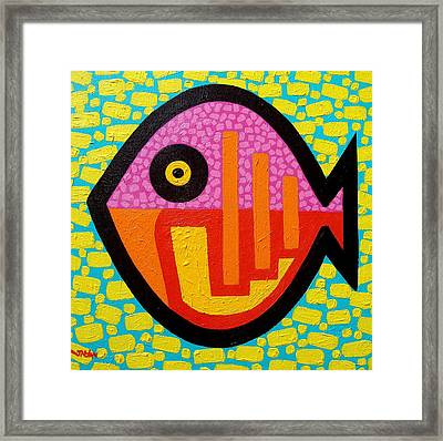 Rebel Fish Framed Print by John  Nolan