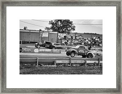Rebel Reaper Wheelstand Framed Print by Dennis Hedberg