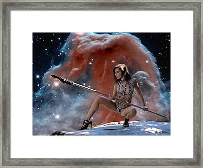 Rebel Warrior Framed Print