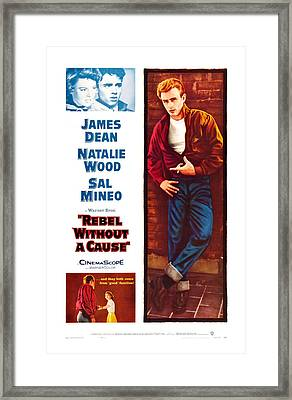 Rebel Without A Cause, Us Poster Art Framed Print by Everett