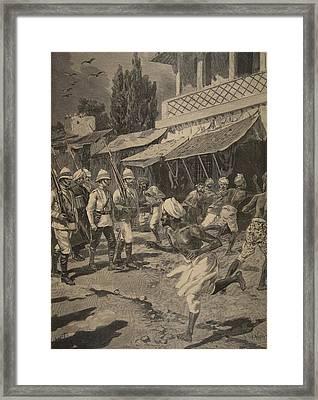 Rebellion In Bombay, Illustration Framed Print