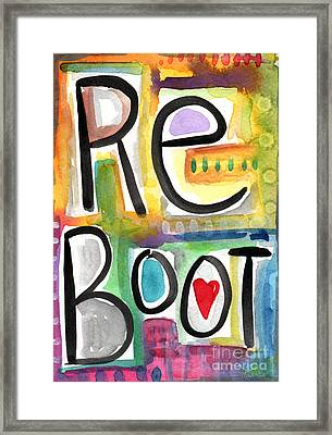 Reboot Framed Print by Linda Woods