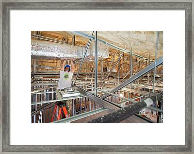 Rebuilding After Hurricane Katrina Framed Print