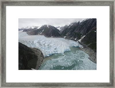 Receding Glacier Southeast Alaska Framed Print by Flip Nicklin