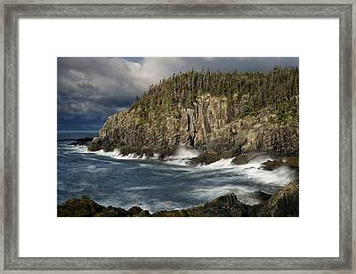 Receding Storm At Gulliver's Hole Framed Print by Marty Saccone