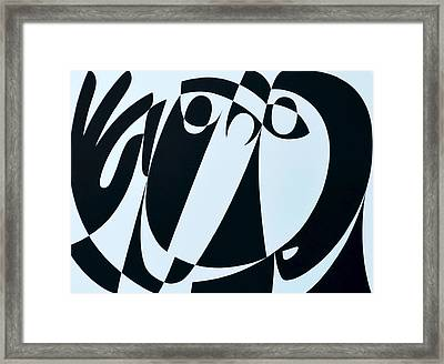 Receive As Truth, 1999 Acrylic On Board Framed Print by Ron Waddams