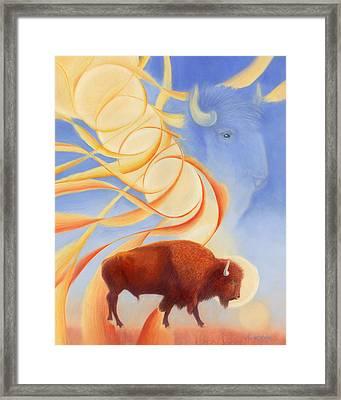 Receiving Buffalo Framed Print by Robin Aisha Landsong