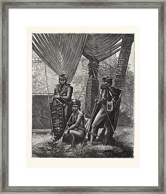 Recent Piracy At The Straits Settlements  Dyaks Of Borneo Framed Print