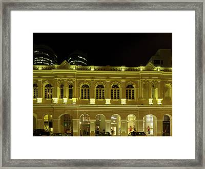 Recently Restored Buildings On Chatham Framed Print