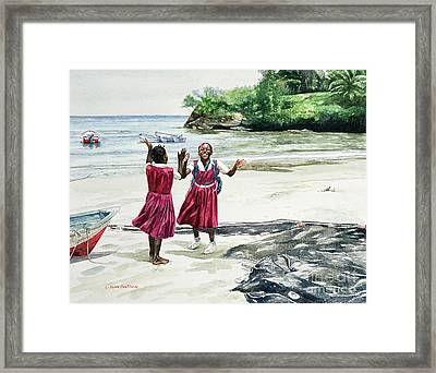 Recess At The Bay Framed Print by Colin Bootman