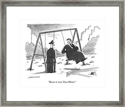 Recess Framed Print by Mick Stevens