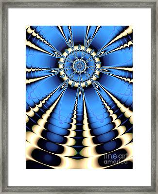 Recession In Blue Framed Print by John Edwards