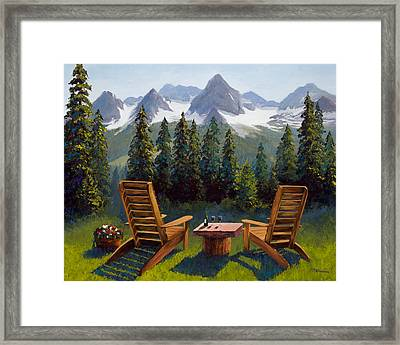 Recharge Framed Print by Mary Giacomini