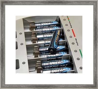 Rechargeable Batteries Framed Print