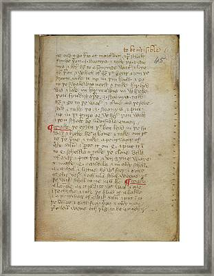 Recipe For Invisibility Framed Print by British Library