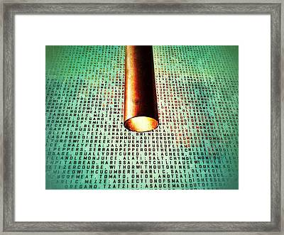 Recipe Framed Print by Olivier Calas