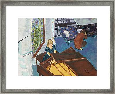 Recital Rehersal Framed Print by Betty Compton