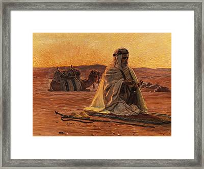 Recitation Of The Maghrib Framed Print