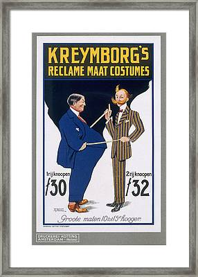 Reclame Maat Costumes, Poster Framed Print by A. von Roessel
