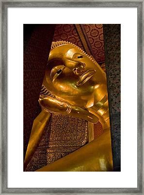 Reclining Buddha Framed Print by Artur Bogacki