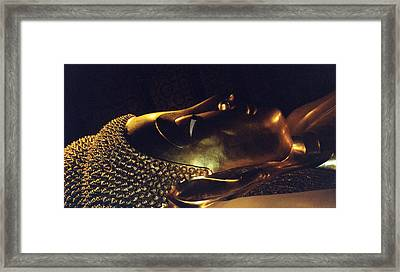 Framed Print featuring the photograph Reclining Buddha by Mary Bedy