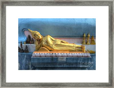reclining Buddha Framed Print by Michelle Meenawong
