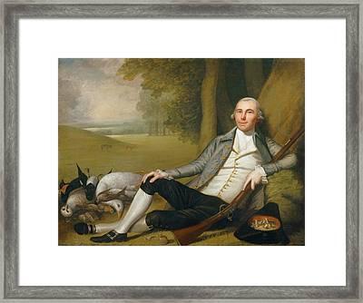 Reclining Hunter Framed Print by Ralph Earl