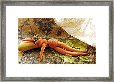 Reclining Nude Carrot Framed Print by Sarah Loft