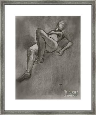 Reclining Woman Framed Print