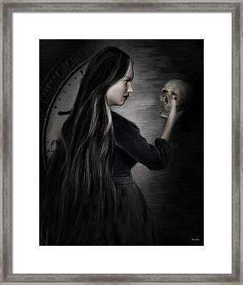 Recognition Of Death Framed Print by Lourry Legarde