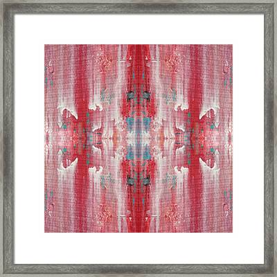 Recombinant Navajo Weaving Framed Print by Paul Ashby