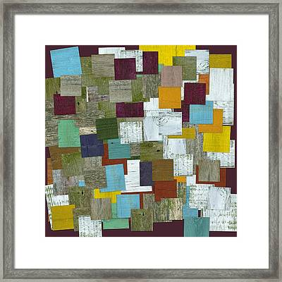 Reconstructing Fences Ll Framed Print by Michelle Calkins