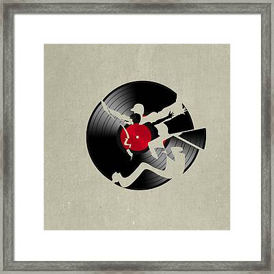 Record 2 Framed Print