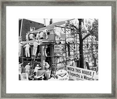 Record House Painting Speed Framed Print