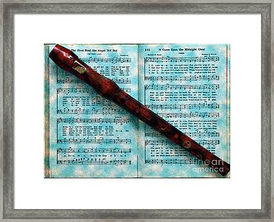 Recorder And Christmas Framed Print by Lydia Holly