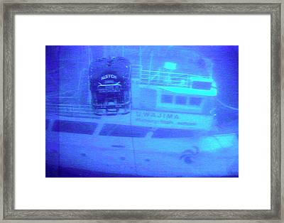 Recovery Of The Ehime Maru Framed Print