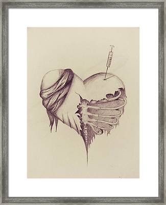 Recovery Framed Print by Tess Porter