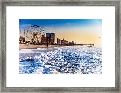 Recreation Beach Sunrise Framed Print by Kirk Strickland