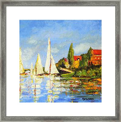 Recreation Of Boating At Argenteuil Framed Print by Marti Green