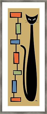 Rectangle Cat Framed Print by Donna Mibus