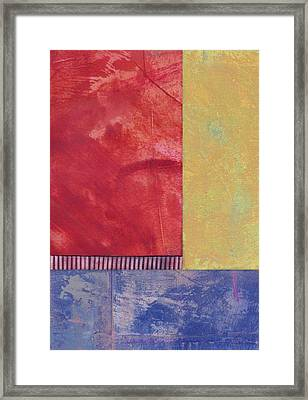 Rectangles - Abstract -art  Framed Print by Ann Powell