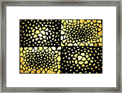 Framed Print featuring the mixed media Rectangles by Kjirsten Collier