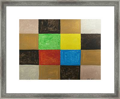 Rectangles Framed Print by Stormm Bradshaw