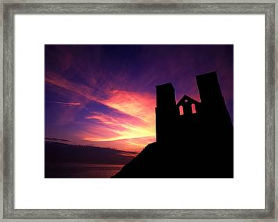 Reculver Church At Sunrise Framed Print by John Topman