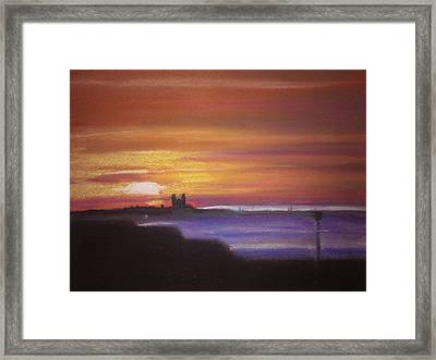 Reculver Sunset Framed Print by Paul Mitchell