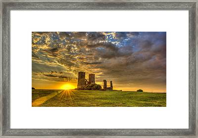 Reculver Towers Kent Sunset Framed Print