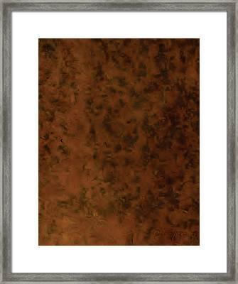 Recumbant Umber Framed Print