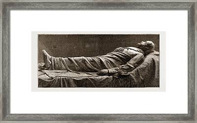 Recumbent Statue Of The Late General Lee Framed Print by Litz Collection